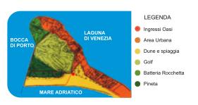 mappa oasi dune alberoni